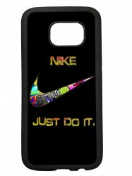 carcasas funda movil tpu compatible con samsung galaxy s6 edge plus nike negra
