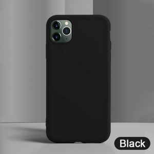Funda Suave Silicona Gel TPU Carcasa Case PARA iPhone 11 Moda Color Azul Oscuro