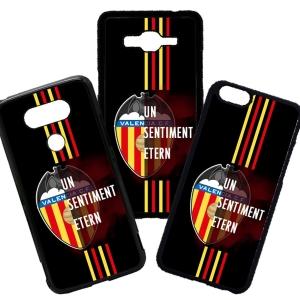 Funda de Movil Carcasa de Moviles Fundas Carcasas de TPU Compatible con el móvil Huawei P8 Lite 2017 Modelo Valencia Futbol Frases Un Sentiment Etern