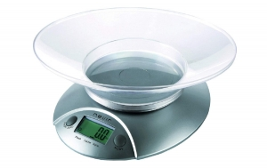 Bascula De Cocina Digital Nevir Balanza Peso Medidas Volumen Facil Limpieza
