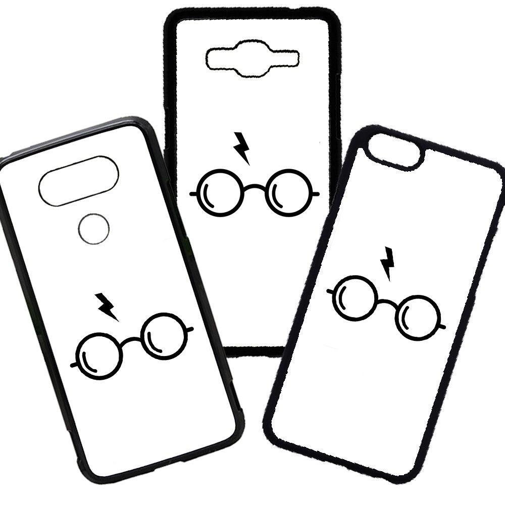 Funda de Móvil de TPU modelo Harry Potter Gafas Varita compatible con el Samsung Galaxy A8 Carcasas de Moviles