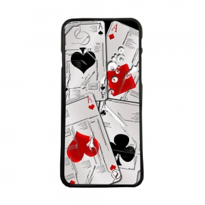 Carcasas de moviles funda de movil tpu compatible con iphone 6 juego cartas ases