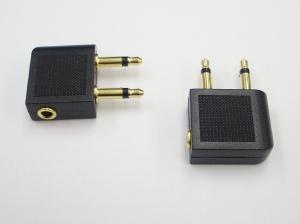 3.5mm Jack Hembra a Doble Conector Macho Avión Auriculares Adaptador de Audio
