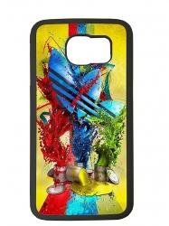 Funda carcasas móvil adidas pintura compatible con móvil Samsung Galaxy S6 Edge