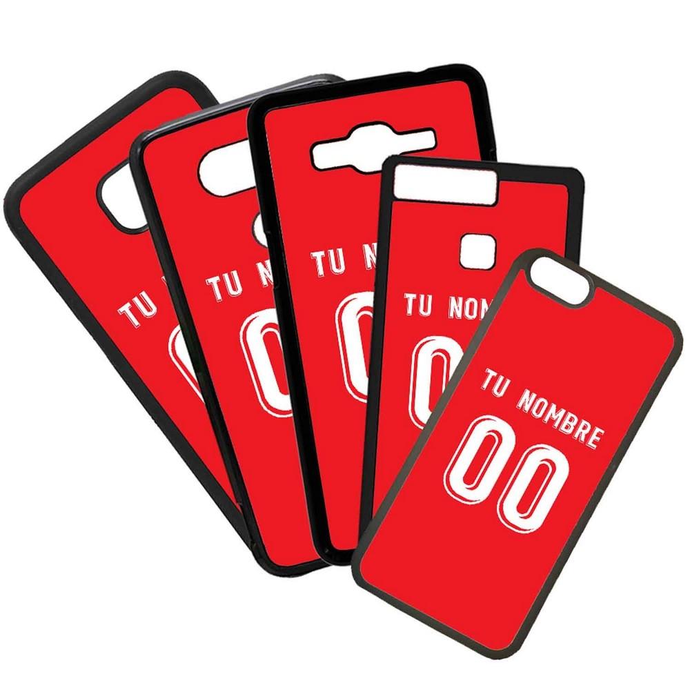 Funda de Movil Carcasa de Moviles Fundas Carcasas de TPU Compatible con el móvil Huawei P8 Lite 2017 Modelo Camiseta de Fútbol Mallorca Con El Nombre y Numero Que Quieras