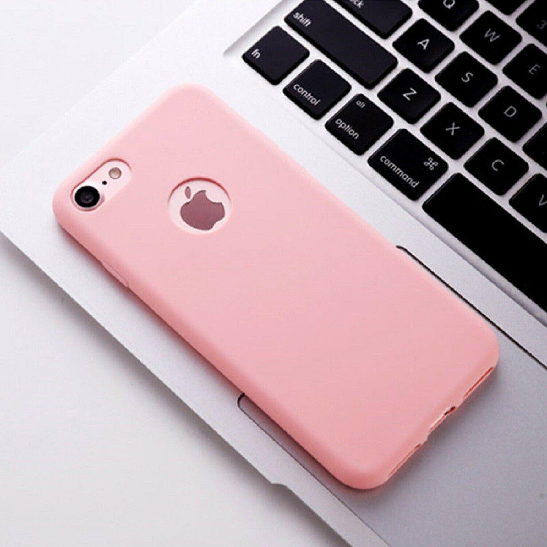 Funda Carcasa Case Iphone Silicona Flexible Ultra Fina Tpu Suave Compatible con iphone 7    Rosa Agujero