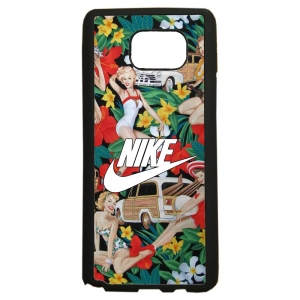 carcasas de movil fundas tpu compatible con samsung galaxy note 5 nike flores