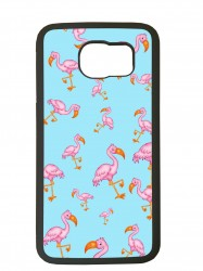 Funda carcasas móvil flamenco compatible con el móvil Samsung Galaxy S6