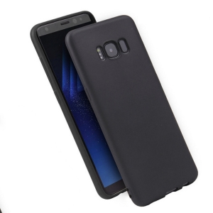 Funda Carcasa Case Samsung Galaxy Silicona Flexible Ultra Fina Tpu Suave Compatible con Samsung Galaxy  S8 Negro