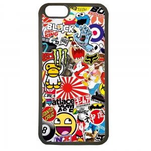 Carcasas de movil fundas de tpu compatible con iphone 5 5s sticker dibujos