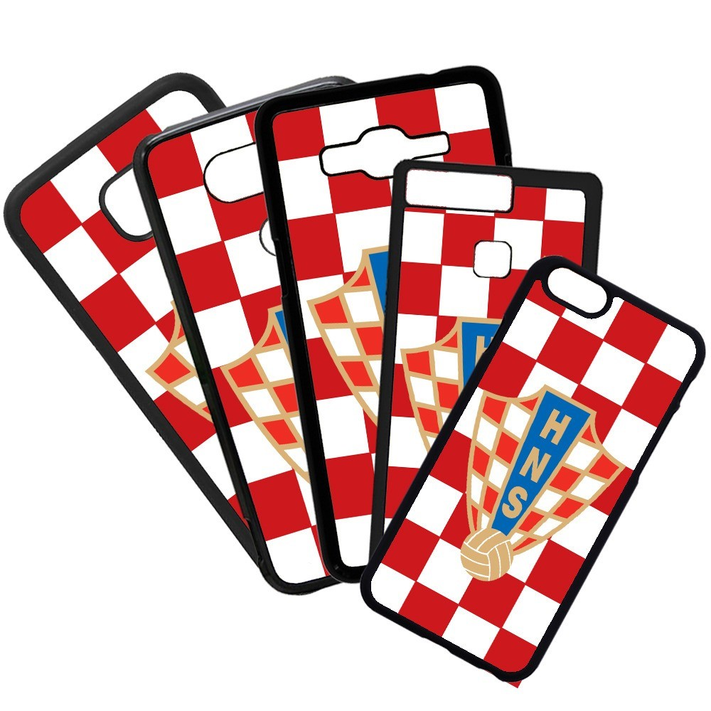 Carcasas de movil fundas de moviles de TPU compatible con Iphone 8 Plus selección de fútbol croacia escudo