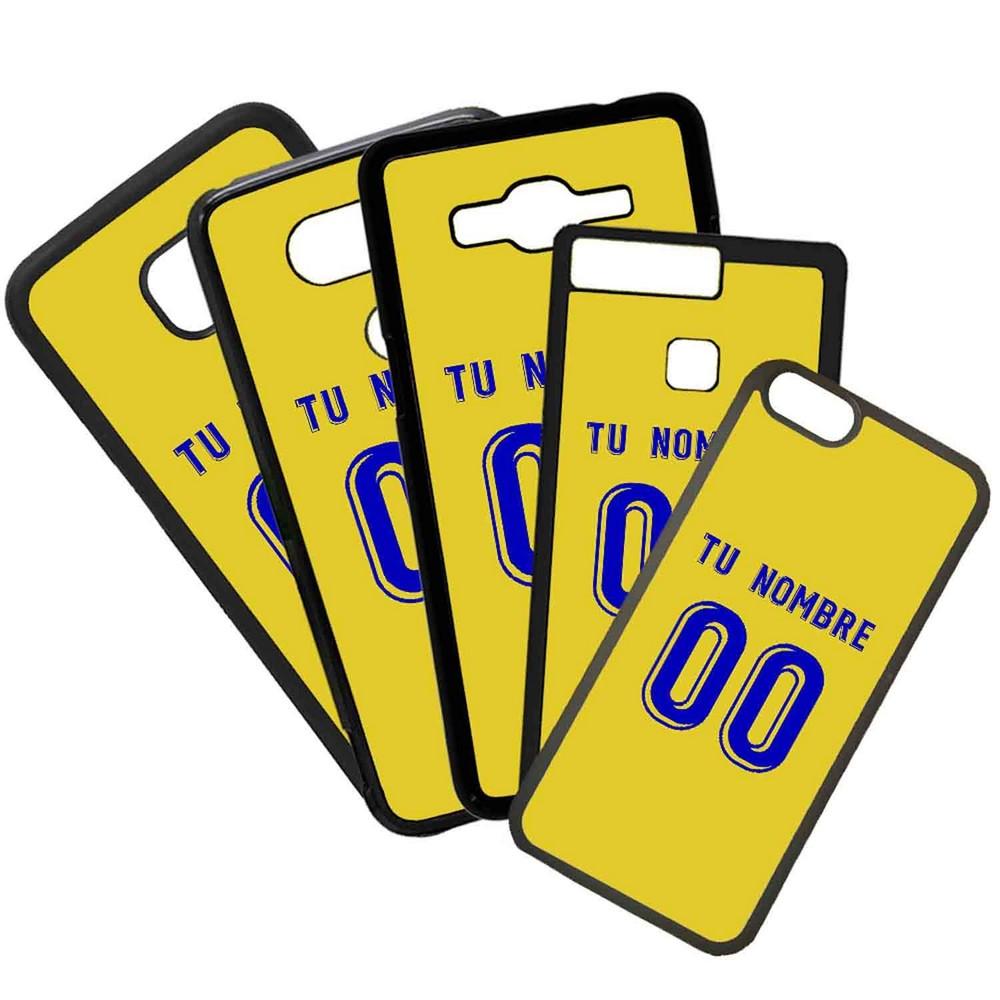 Funda de Movil Carcasa de Moviles Fundas Carcasas de TPU Compatible con el movil Huawei P20 Lite Modelo Camiseta de Futbol Alcorcon Con El Nombre y Numero Que Quieras
