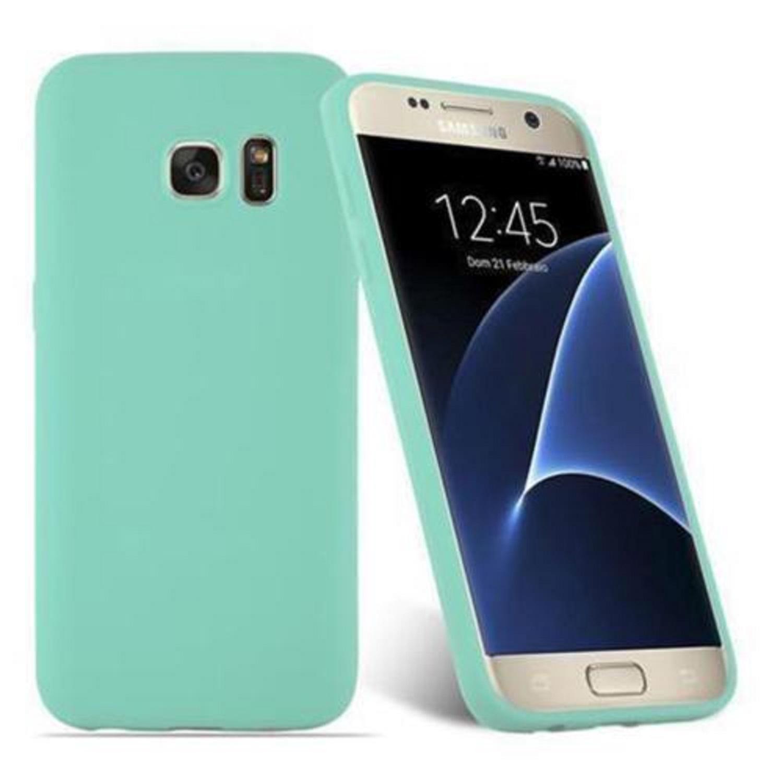 Funda Carcasa Case Samsung Galaxy Silicona Flexible Ultra Fina Tpu Suave Compatible con Samsung Galaxy  S8 Plus Azul Claro