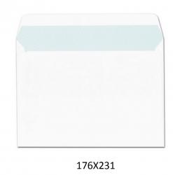 250 Sobres blancos 176X231 4º cuartilla envios autoadhesivos