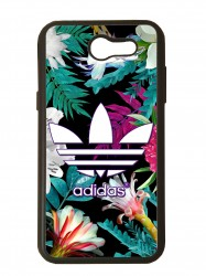 Funda carcasas móvil adidas flores compatible con movil Samsung Galaxy J3 2017