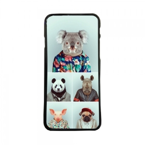 Carcasas de moviles funda de movil tpu compatible con iphone 7 animales vestidos