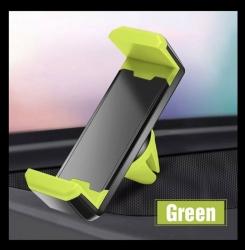 Soporte Para el Coche Movil Universal Pinza Salpicadero Car Moda Colores Gps Color Verde