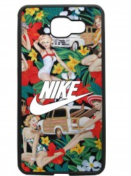 carcasas fundas movil tpu compatible con samsung galaxy a7 2016 nike flores