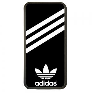 Carcasas de movil fundas de móviles de TPU compatible con Huawei P8 lite 2017 marca logotipo adidas color negro