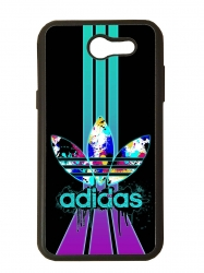 Funda carcasas móvil adidas lila compatible con movil Samsung Galaxy J3 2017