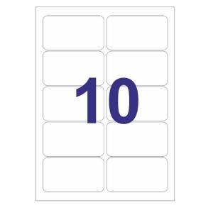 1000 Etiquetas Adhesivas A4 Multi 3 de 99,1x57mm Impresoras Láser 10499
