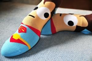 Calcetines Superheroes Moda Dibujos Heroes Niños Adultos Unisex Ropa Superman