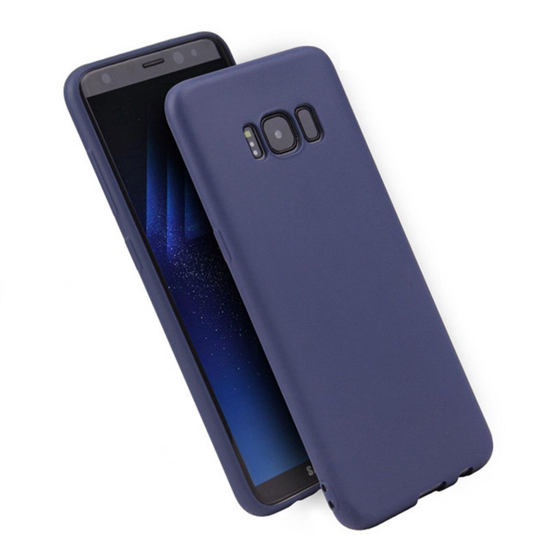 Funda Carcasa Case Samsung Galaxy Silicona Flexible Ultra Fina Tpu Suave Compatible con Samsung Galaxy  S10 Azul Oscuro