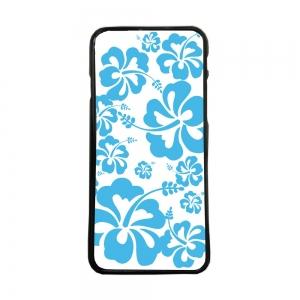 Fundas De Móviles Carcasas De Móvil De TPU Hawaiana Flores Azules Fondo Blanco
