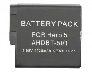 Batería Recargable De Iones De Litio De 1220 mAh Compatible GoPro Hero5