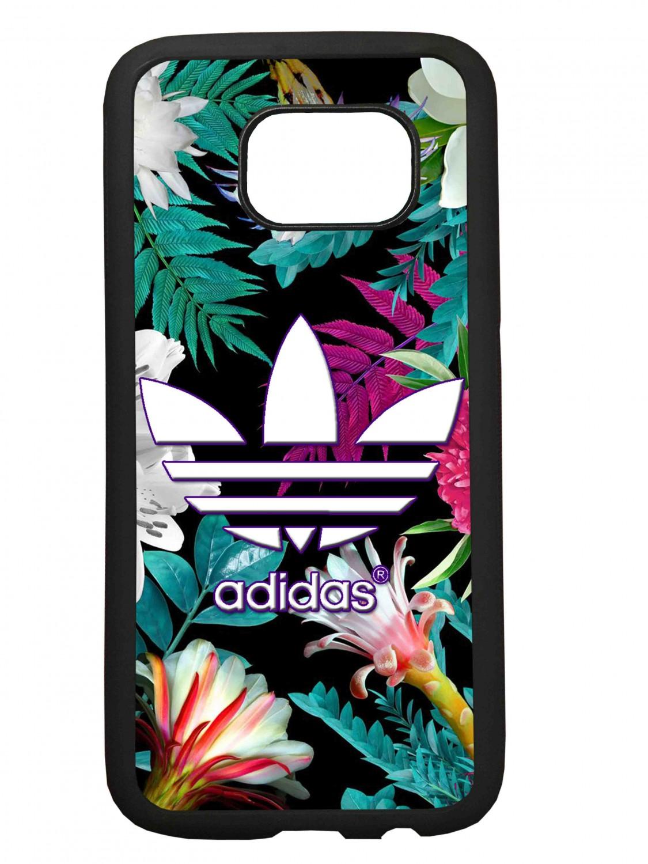 Funda carcasas móvil adidas flores compatible con Samsung Galaxy S6 Edge Plus