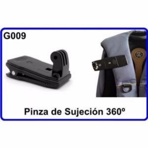 Pinza Sujeción Giratoria 360 Accesorios Camara Deportiva Compatible Gopro Hero
