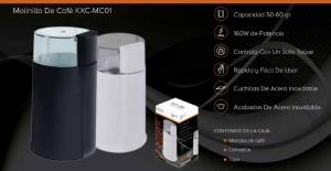 Molinillo De Cafe Capacidad 50-60 gramos 160w Potencia Rapido Facil Usar Cafes