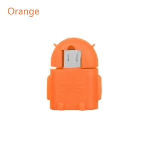 Adaptador OTG Robot Micro USB Android Tablet Movil Telefono Smartphone Naranja