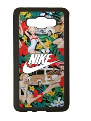 carcasas fundas movil tpu compatible con samsung galaxy j1 2016 nike flores