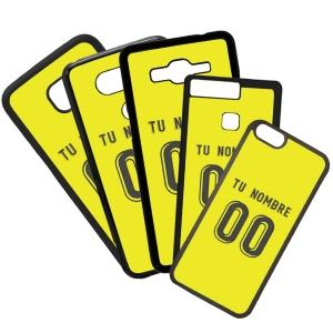 Funda de Movil Carcasa de Moviles Fundas Carcasas de TPU Compatible con el móvil Huawei P8 Lite 2017 Modelo Camiseta de Fútbol Villarreal Con El Nombre y Numero Que Quieras