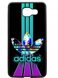 Funda carcasas móvil adidas lila compatible con movil Samsung Galaxy A7 2017