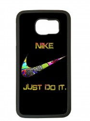 carcasa para el movil funda compatible con samsung galaxy s6 edge nike negro
