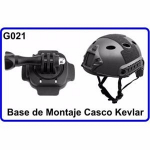 Base de Montaje Casco Kevlar para Camara Deportiva Compatible con GoPro Hero