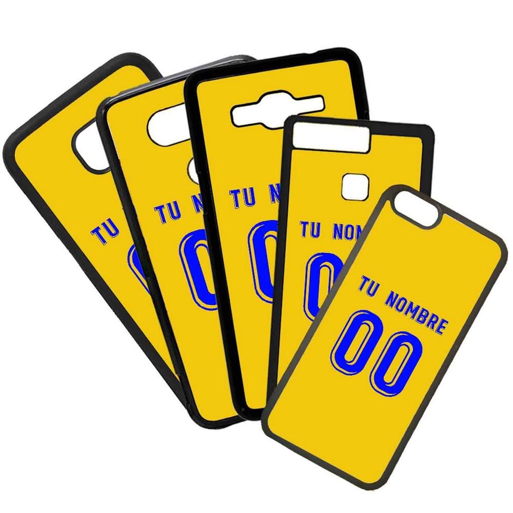 Funda de Movil Carcasa de Moviles Fundas Carcasas de TPU Compatible con el movil Huawei P20 Lite Modelo Camiseta de Fútbol Las Palmas Con El Nombre y Numero Que Quieras