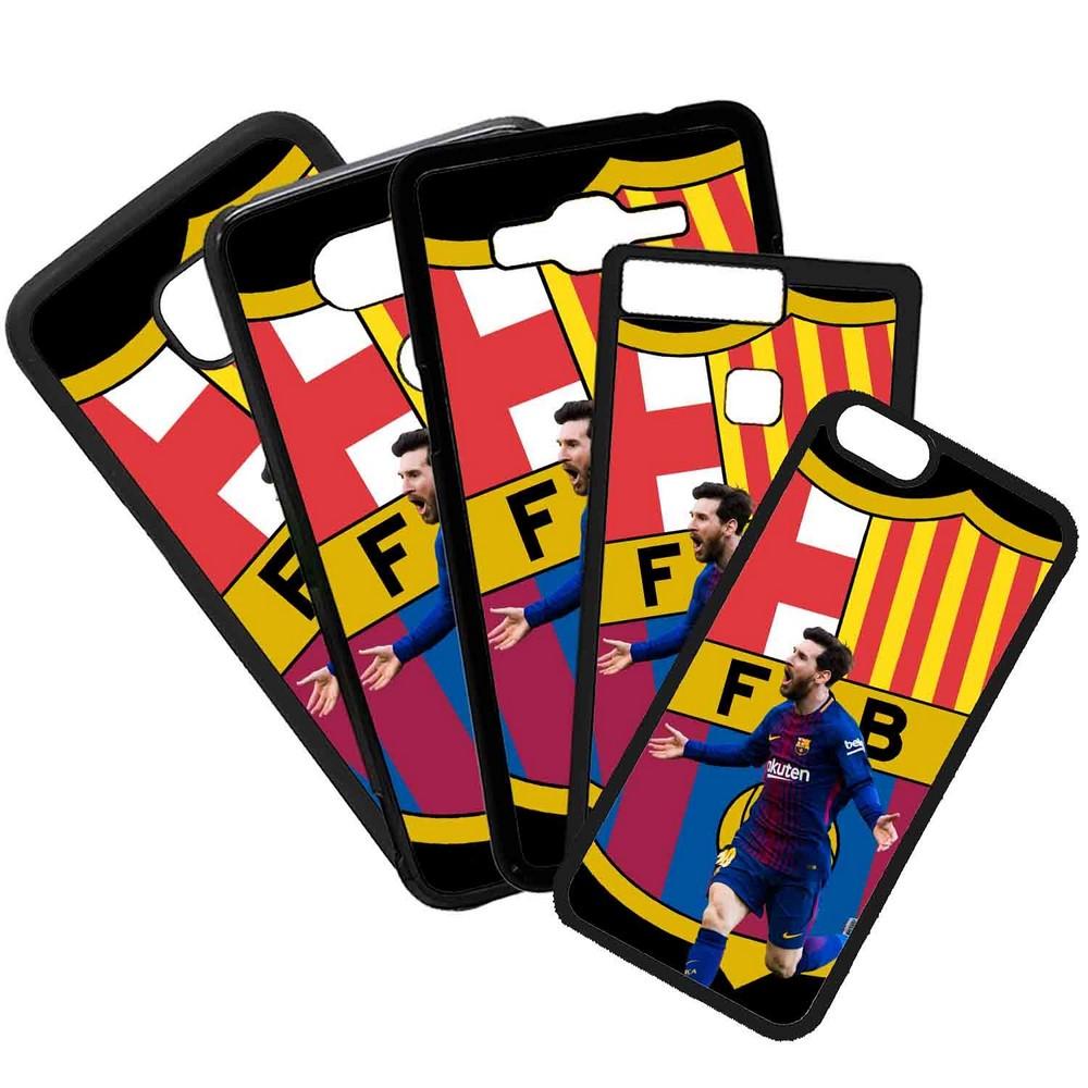 Funda de Movil Carcasa de Moviles Fundas Carcasas de TPU Compatible con el móvil Samsung Galaxy A8 Modelo Leo Messi Barcelona Futbol