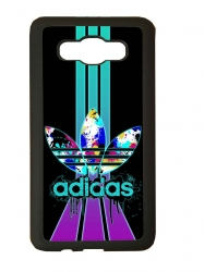 Funda carcasas móvil adidas lila compatible con movil Samsung Galaxy j3 2016