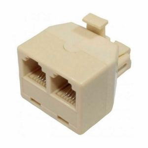 Adaptador Doble Duplicador Tipo T De Cable Telefono RJ11 Macho a 2 RJ11 Hembra