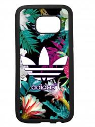 Funda carcasas móvil adidas flores compatible con el movil Samsung Galaxy S8