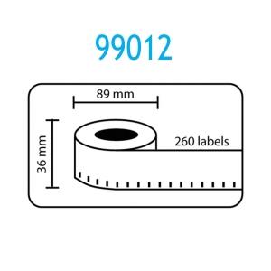 1 x Rollo de etiqueta compatible con dymo modelo 99012 89x36 mm