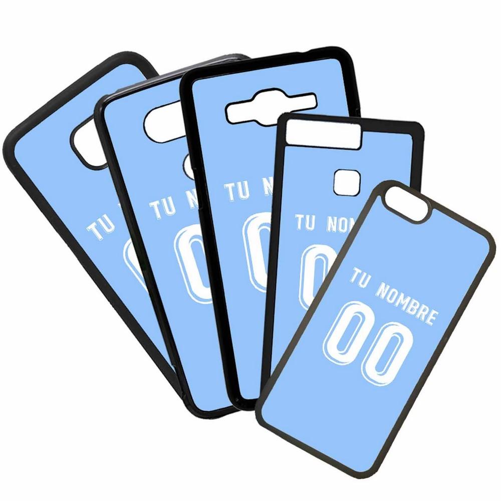 Funda de Movil Carcasa de Moviles Fundas Carcasas de TPU Compatible con el movil Huawei P20 Lite Modelo Camiseta de Futbol Celta Con El Nombre y Numero Que Quieras