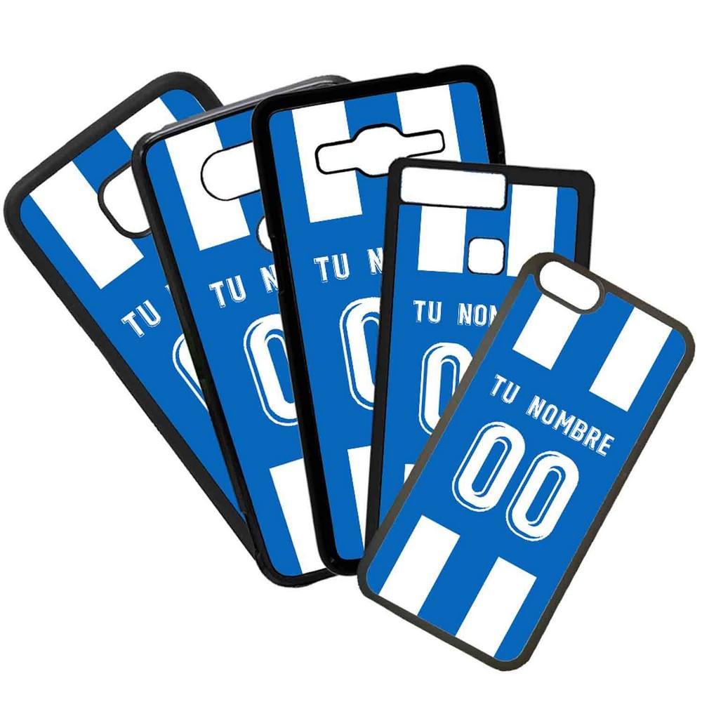 Funda de Movil Carcasa de Moviles Fundas Carcasas de TPU Compatible con el movil Huawei P20 Lite Modelo Camiseta de Futbol Deportivo de la Coruña Con El Nombre y Numero Que Quieras