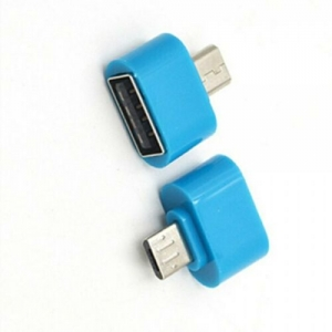Adaptador Micro usb macho a 2.0 OTG Convertidor Para Android Tablet Movil Azul
