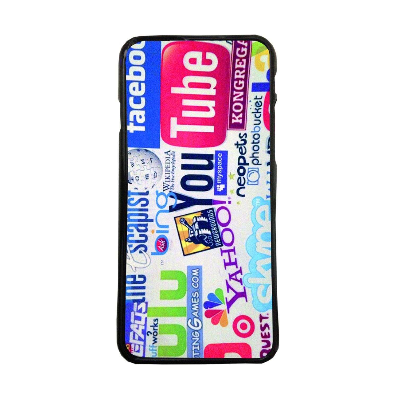 3b1db2f7ed8 Fundas De Móviles Carcasas De Móvil De TPU Logo Web Ebay Youtube Facebook  Colage