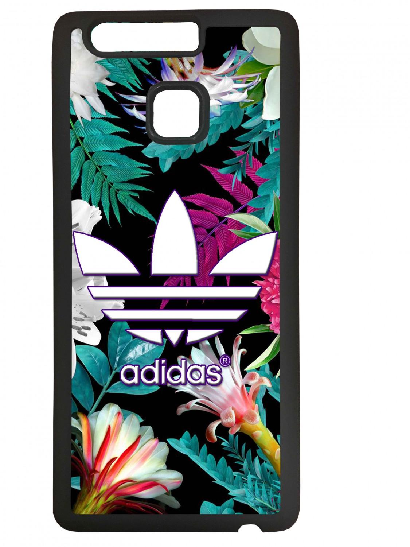 Funda carcasas móvil adidas flores compatible con el móvil Huawei P9 Plus