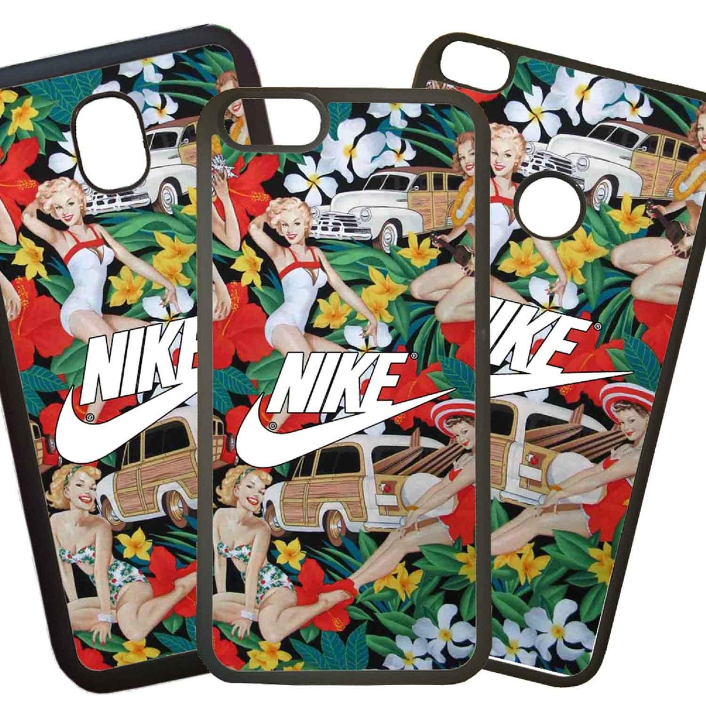 51114865c8a Fundas De Móviles Carcasas De Móvil De TPU Modelo Nike Flores Dibujos Moda